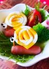 しましま薄焼き卵deかたつむり☆キャラ弁
