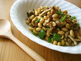香ばし大豆の❤梅鰹和え