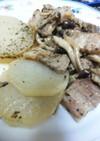 豚バラ肉と大根のアクアパッツァ風