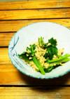 納豆の明日葉和え(時短料理)