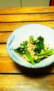 納豆の明日葉和え(時短料理)の写真