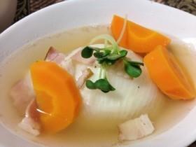 ベーコンと玉ねぎのほっこりスープ