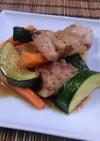 鶏肉と野菜のめんつゆ炒め