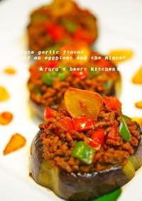 ✿茄子と挽肉のソテー♪ニンニク風味✿
