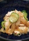 中華クラゲとササミ(胸肉)の和え物