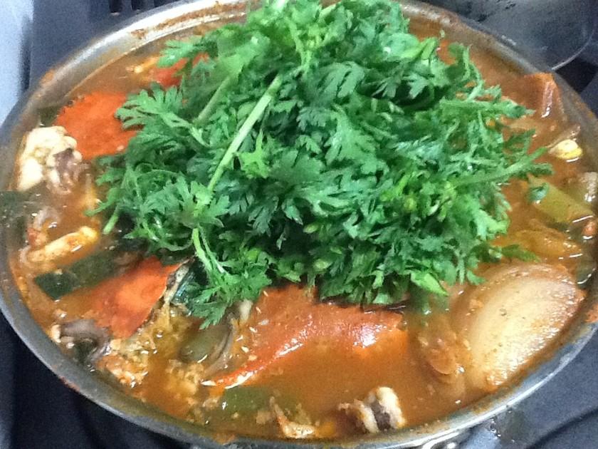 韓国☆お家でコッケタン(渡り蟹の寄せ鍋)