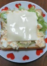簡単ブランチ♪卵とチーズのオープンサンド