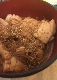 豆腐とえりんぎのこっくり炒め