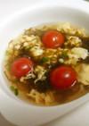 もずくとふわふわ玉子の中華風スープ