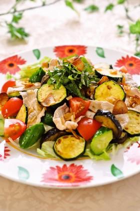 夏野菜でスタミナたっぷり♫冷しゃぶサラダ