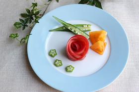 トマトで簡単!バラの飾り切り☆