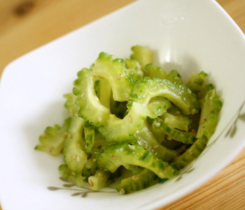 もう一品の野菜のおかず。ゴーヤのナムル