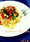 ◇トマトとシラスの冷製パスタ◇