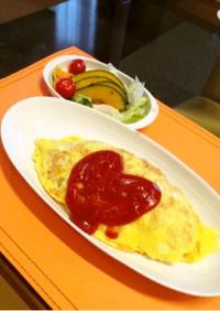 簡単☆炊飯器でオムライスのケチャップご飯