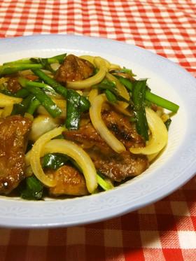 栄養補給☆鶏レバーニラ炒め