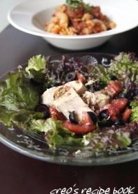 サニーレタスとトマトのサラダ