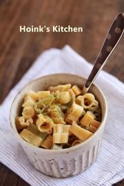 にんにくバター醤油マカロニの写真