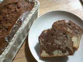 マーブルマーブルパウンドケーキ