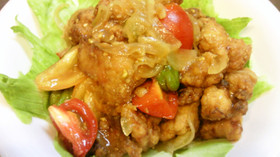 ☆鶏胸肉とミニトマトの南蛮風☆
