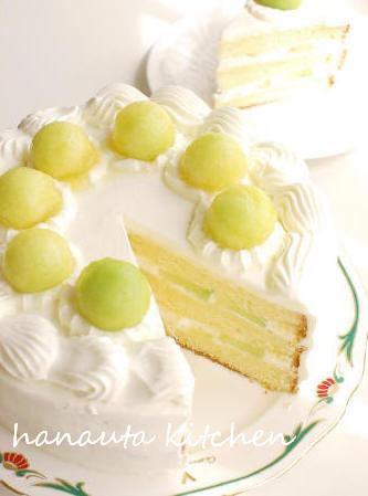 爽やか♪メロンショートケーキ