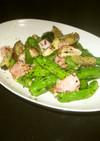 夏野菜とベーコンの黒胡椒炒め