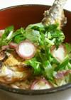 生姜ご飯鮎の塩焼き載せ