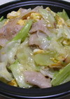 豚バラとキャベツのネギ塩炒め