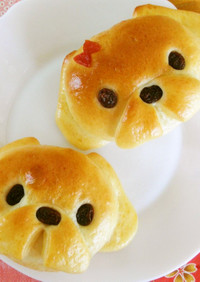 いぬパン まる顔シーズー犬