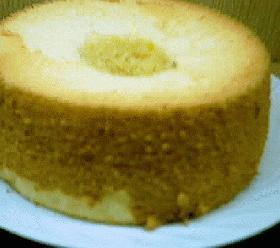桃の香りのシフォンケーキ