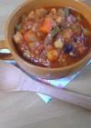 夏冷え防止!雑穀と野菜の食べるスープ