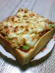 残りものでピザトースト☆の写真