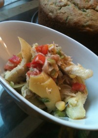 アーティチョークハートとツナの缶詰サラダ