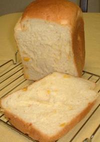 ホームベーカリーでコーン食パン