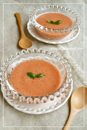 トマトの冷製スープ