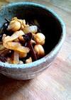 玉葱とキクラゲとひよこ豆の切干し大根甘煮