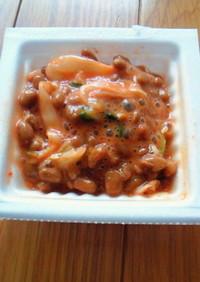 ハバネロタバスコでキムチお酢納豆