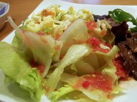 フレッシュトマト ドレッシングのサラダ♪