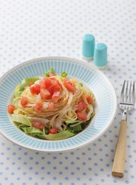 レタスと玉ねぎのサラダスパゲティ