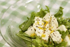 豆腐とエンダイブのサラダ