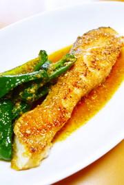 鮭とピーマンの胡麻甘酢漬けの写真
