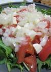 玉ねぎのみじん切りドレッシングサラダ