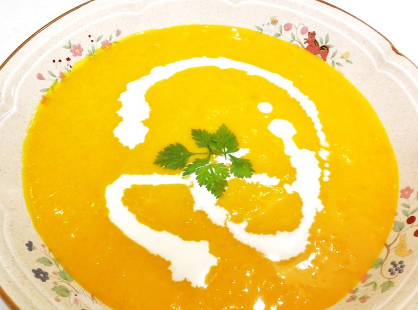 夏バテにおススメ、かぼちゃの冷製スープ