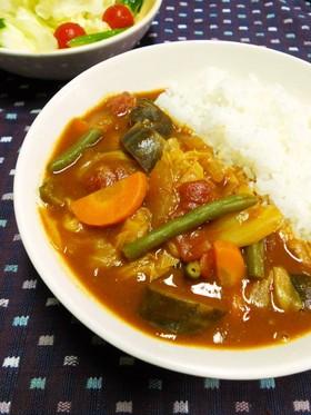 キャベツたっぷり野菜カレー