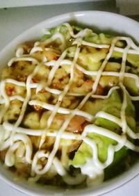 アボガド&サーモン&小エビのチーズ焼き丼