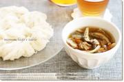 温かいつけ汁で食べる素麺の写真