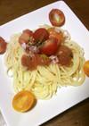 フルーツトマトの冷製パスタ