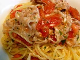 豚しゃぶとトマトの冷製スパゲティ