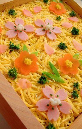 春色の押し寿司~♪