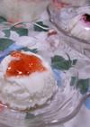 ヨーグルトdeレアチーズケーキ