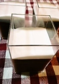 水羊羹(クリームソース添え)